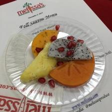 Fruit slices, pomegranate
