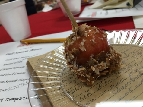 Crimson gold caramel apple